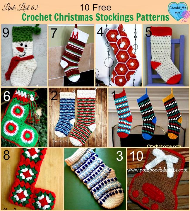 10 Free Crochet Christmas Stockings Patterns