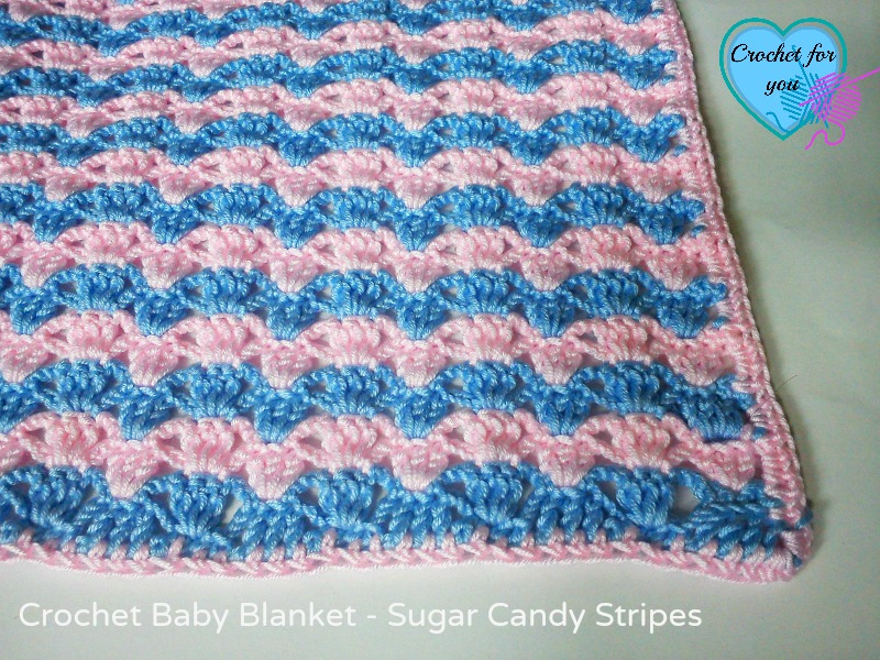 Sugar Candy Stripes Baby Blanket - free pattern