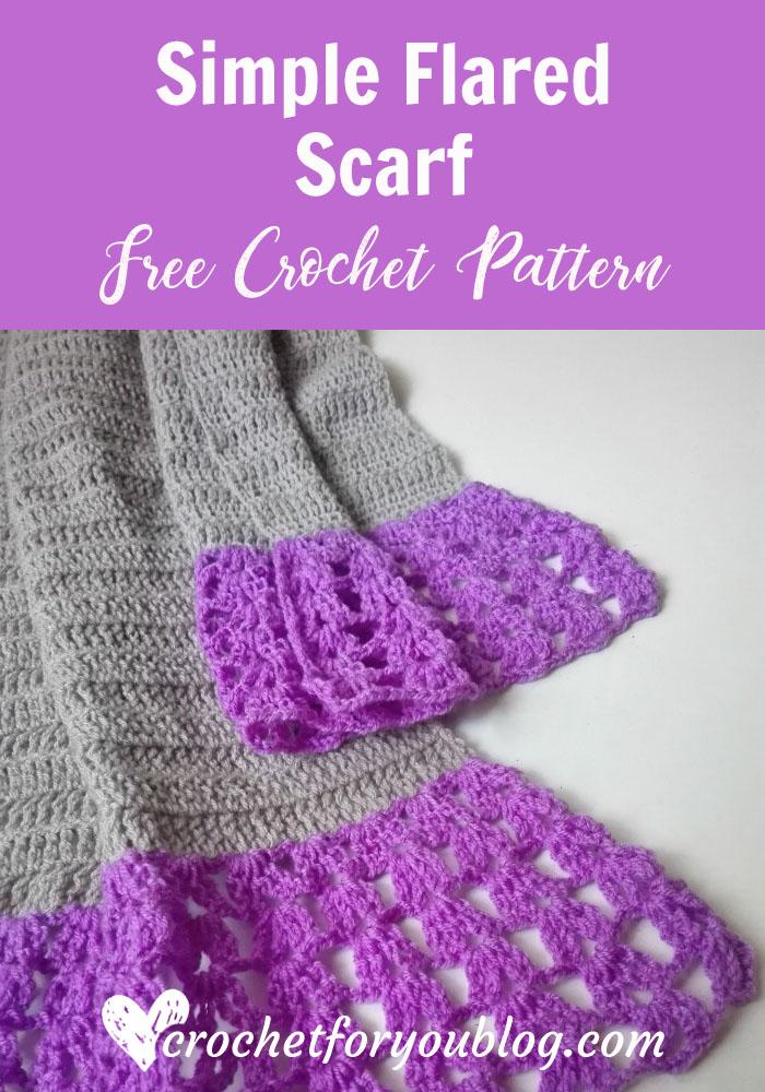 Simple Flared Scarf - free crochet pattern