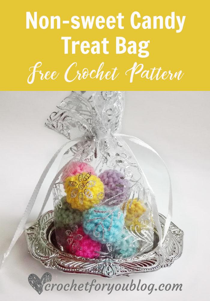 non-sweet Candy Treat Bag - free crochet pattern