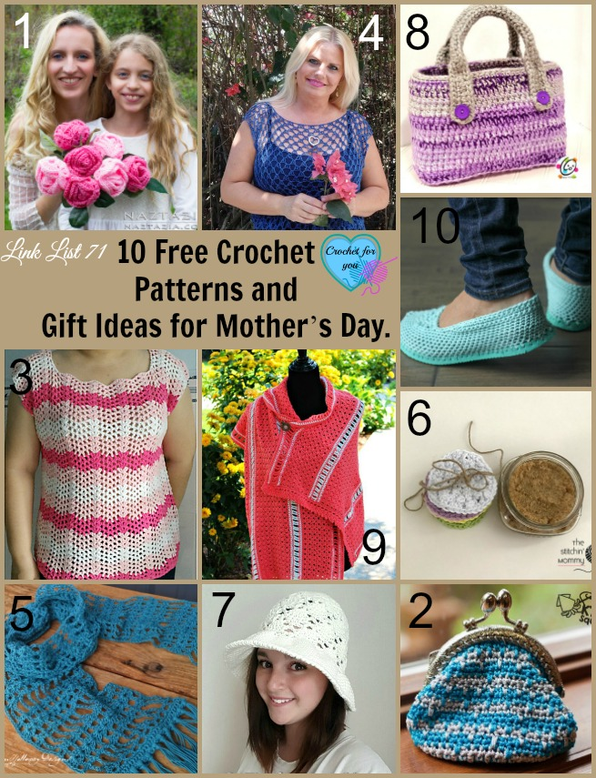 10 Free Crochet Patterns and Gift Ideas for Mother's Day