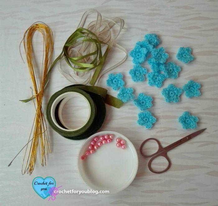Crochet Flower Hairband Free Crochet Pattern