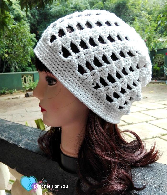 Easy Peasy Slouch Beanie - free crochet pattern