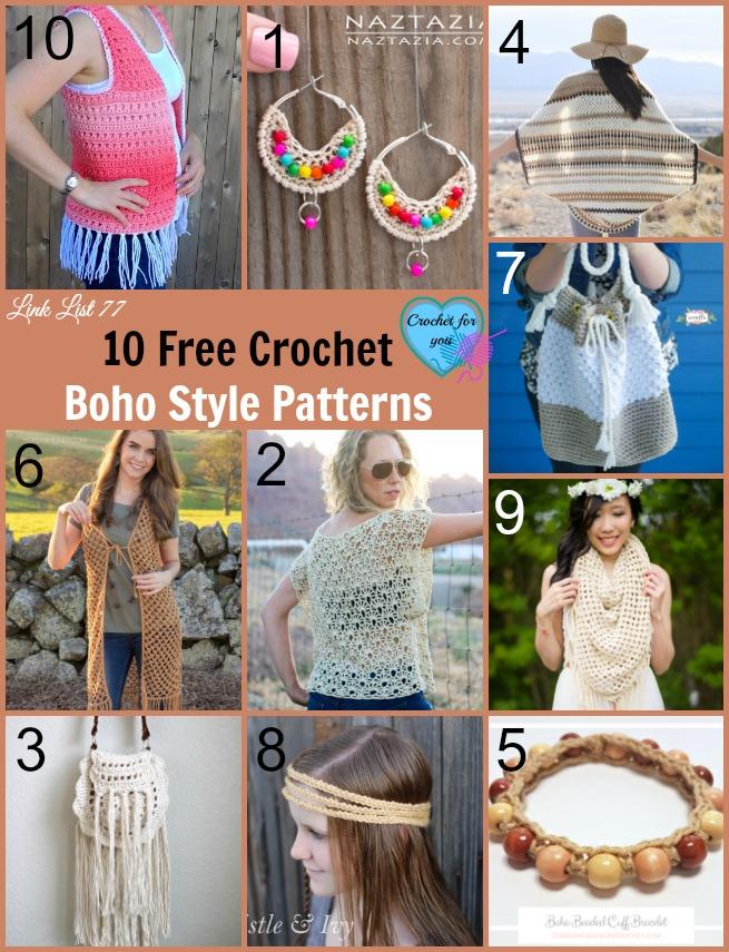10 Free Crochet Boho Style Patterns
