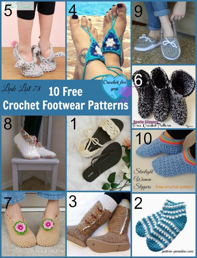 10 Free Crochet Footwear Patterns