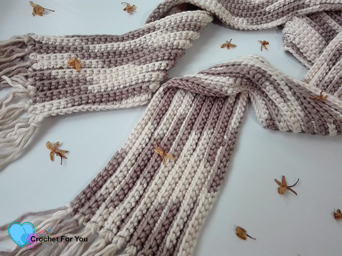 Crochet Easy Ribbed Scarf
