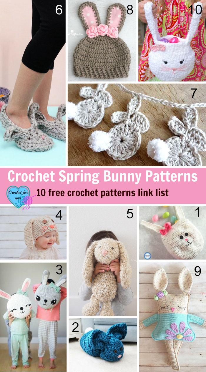 Crochet Spring Bunny Patterns - 10 free crochet patterns link list