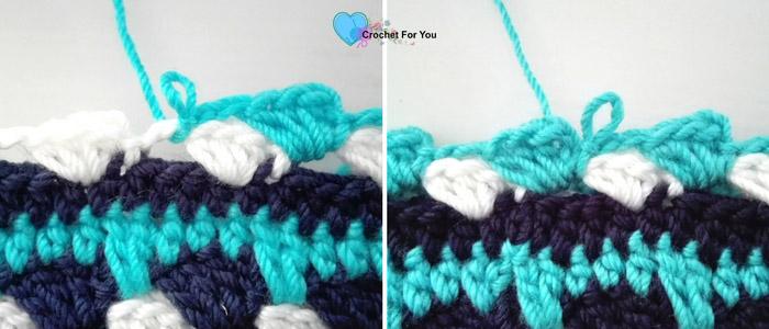 Ocean Shades Pompom Hat - free crochet pattern