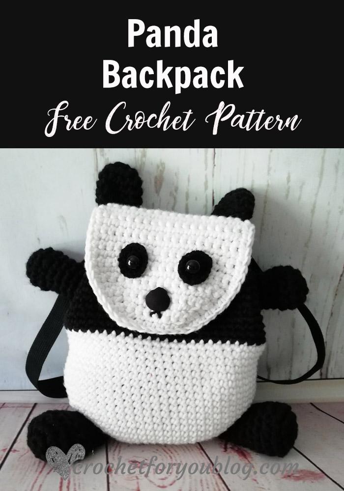 Crochet Panda Backpack Free Pattern