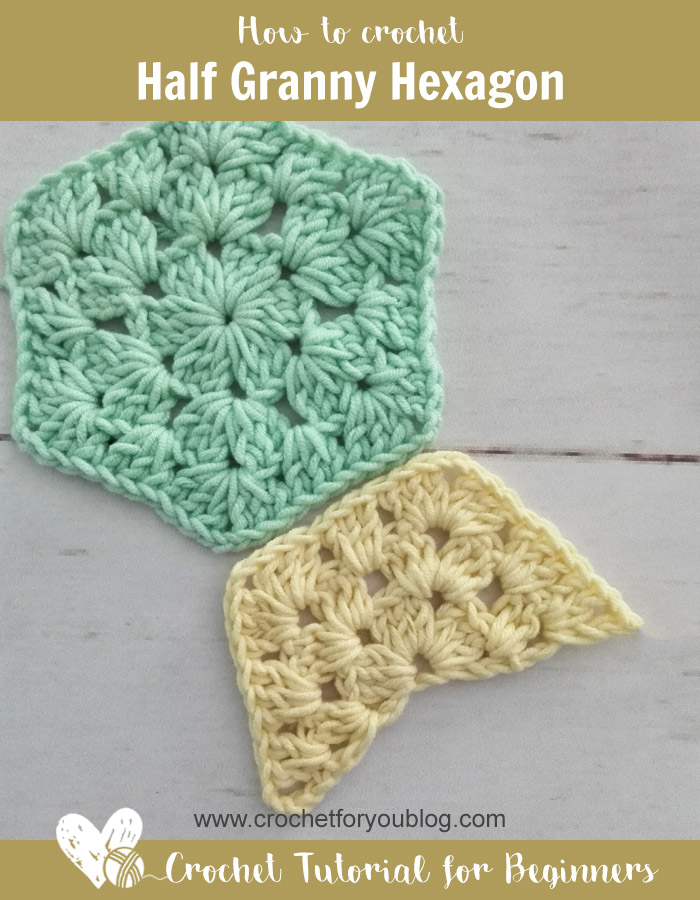 Crochet Half Granny Hexagon Free Pattern