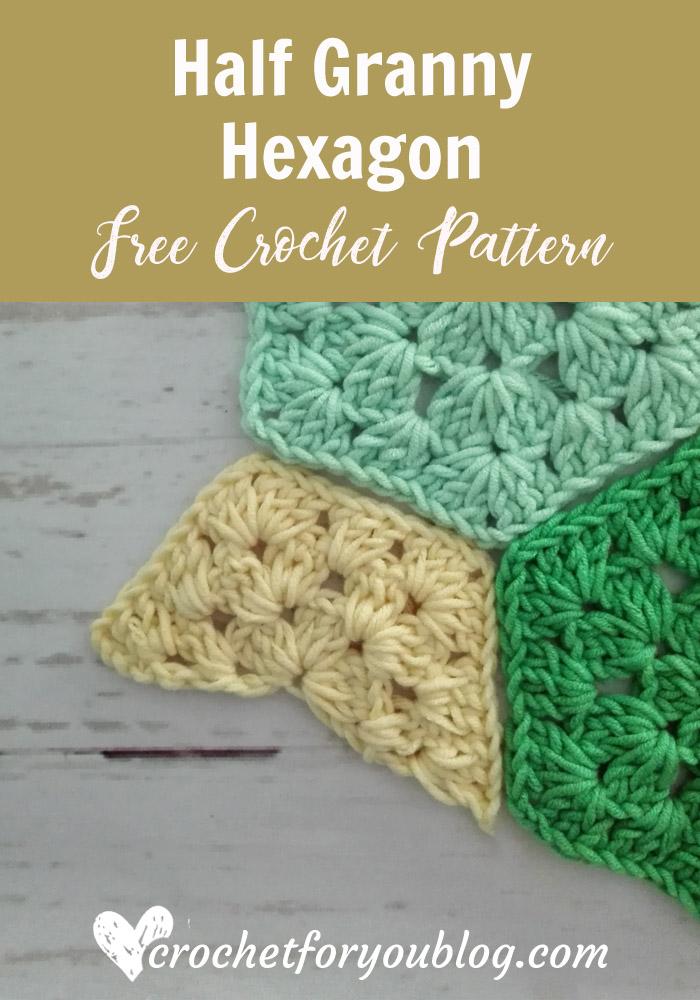 Half Granny Hexagon Free Pattern
