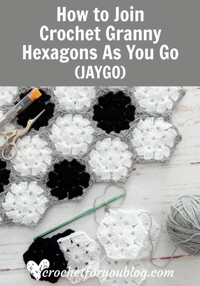 How to Join Crochet Granny Hexagons