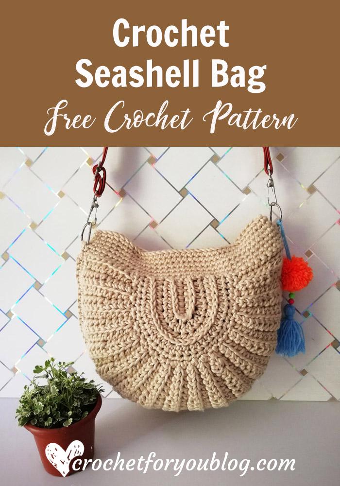 Crochet Seashell Bag- free pattern