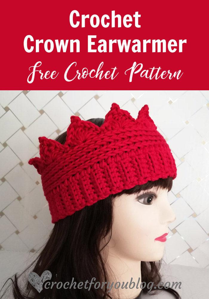 Crochet Crown Earwarmer Free Pattern