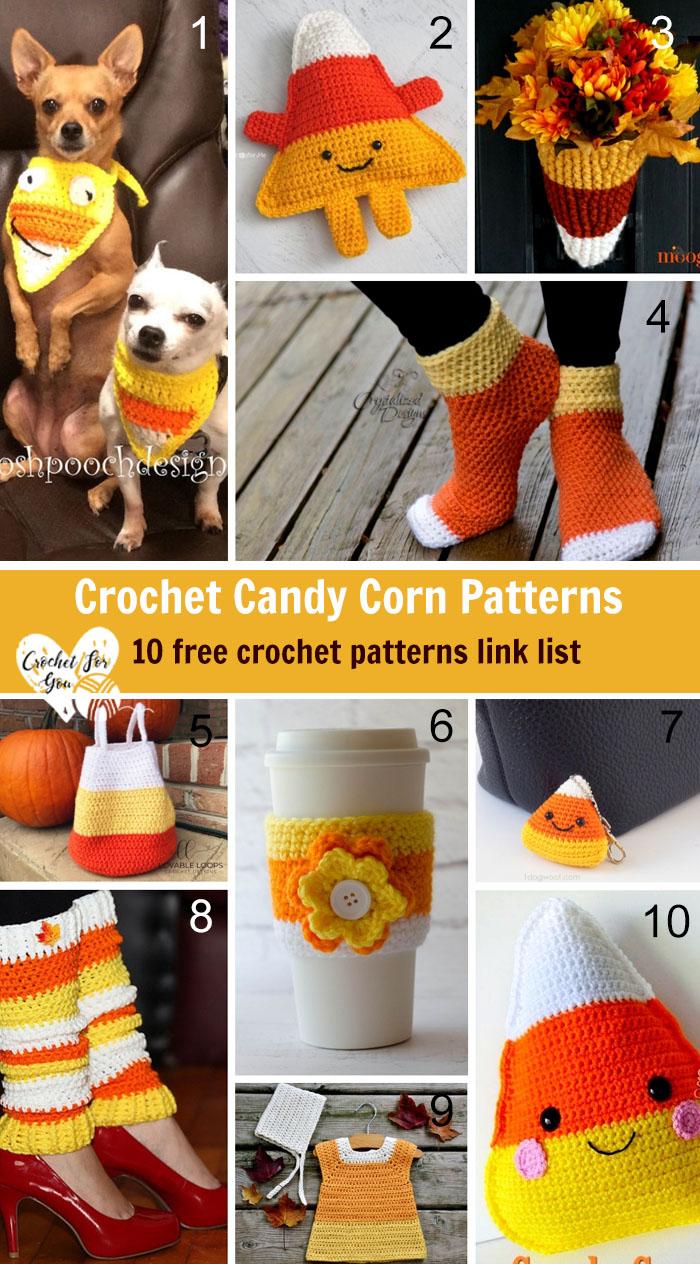 Crochet Candy Corn Patterns – 10 free crochet pattern link list