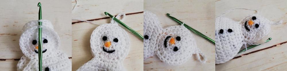 Crochet Snowman Christmas Ornament Free Pattern