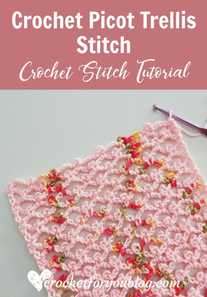 How to Crochet Picot Trellis Stitch