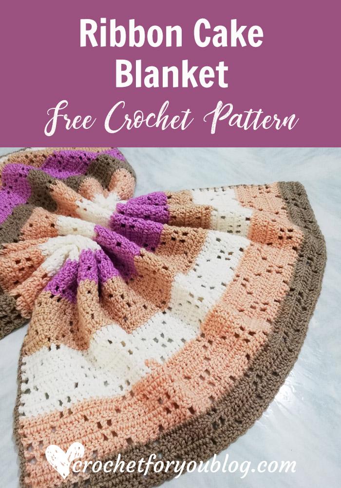 Ribbon Cake Blanket Free Crochet Pattern