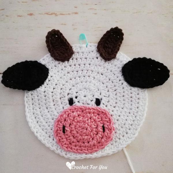 Crochet Cow Potholder Free Pattern
