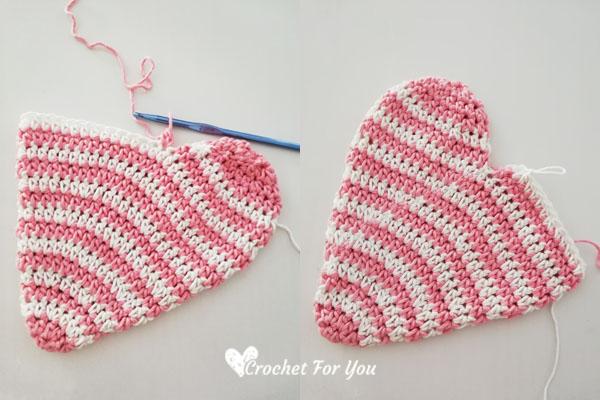 Crochet Heart Potholder