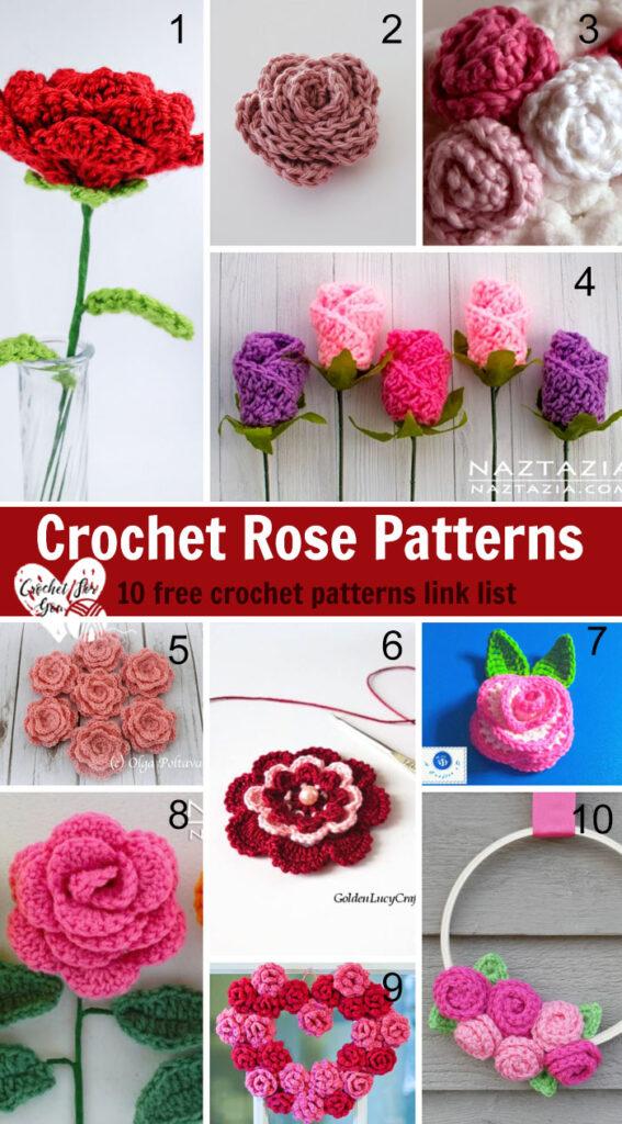 Crochet Rose Patterns