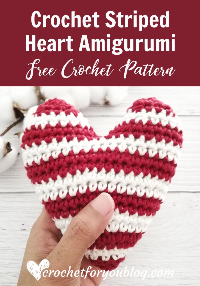 Crochet Striped Heart Amigurumi