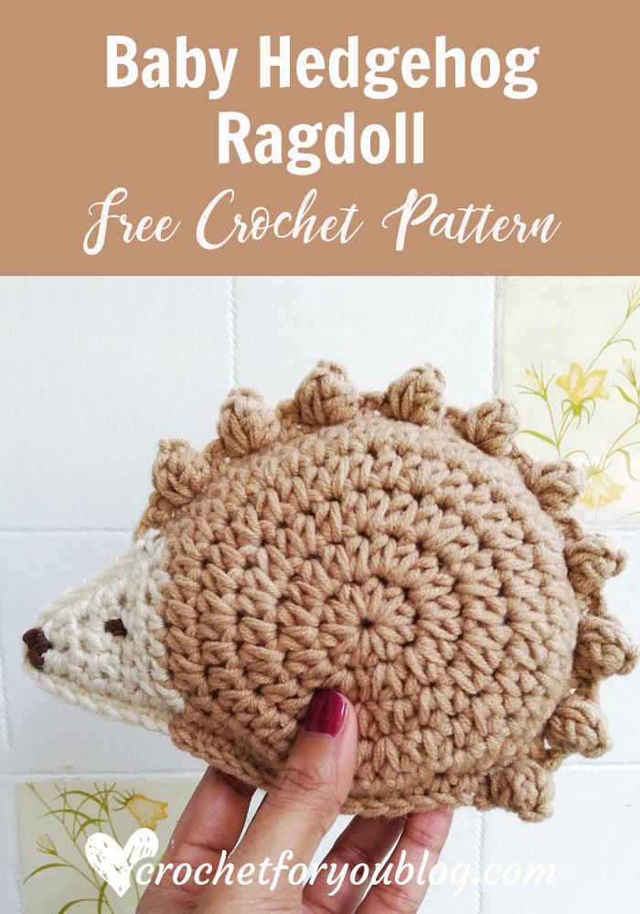 Baby Hedgehog Ragdoll Amigurumi