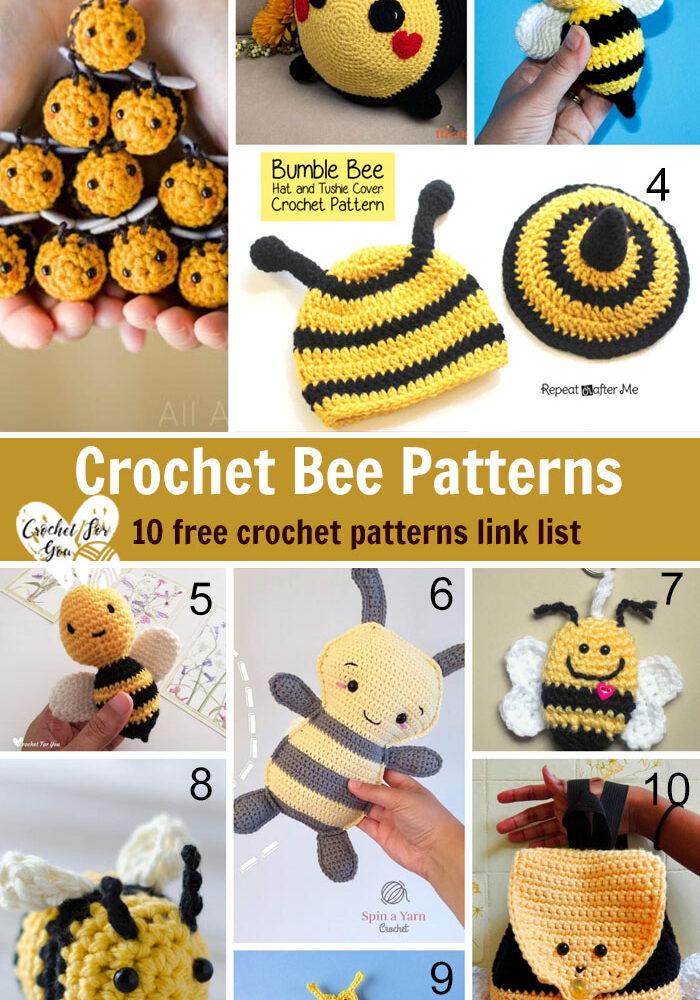 Crochet Bee Patterns - 10 free crochet pattern link list