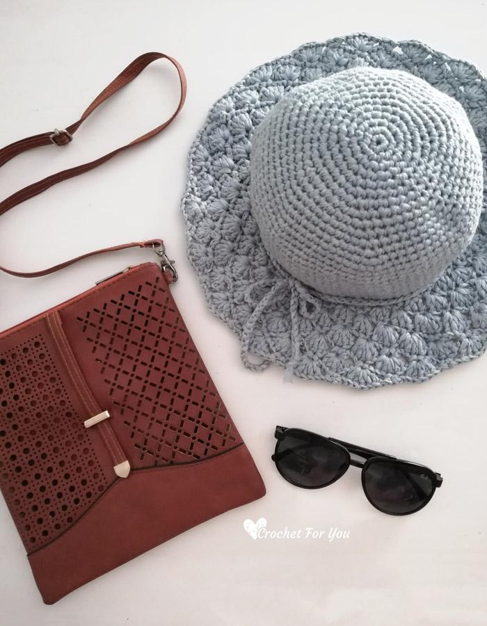 Floppy Shell Brim Sun Hat
