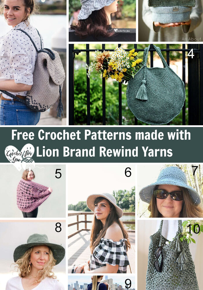 Free Crochet Patterns made with Lion Brand Rewind Yarns