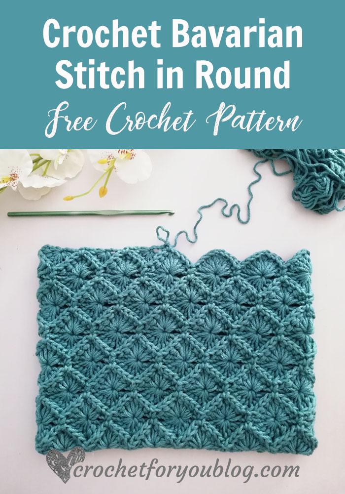 How to Crochet Bavarian Stitch in Round