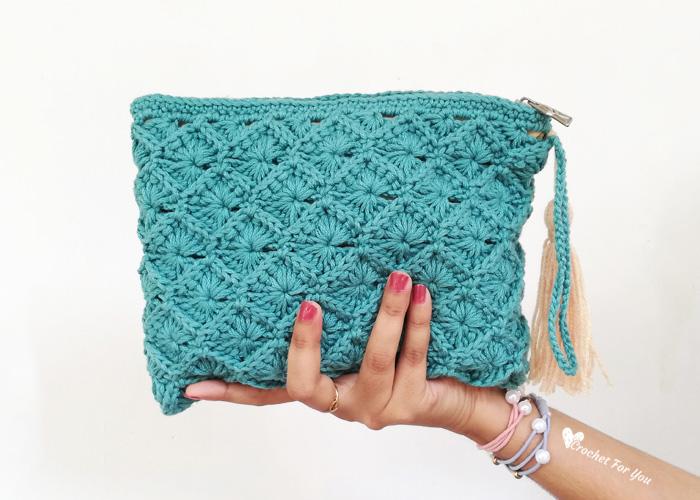 Crochet Bavarian Stitch Pouch Free Pattern