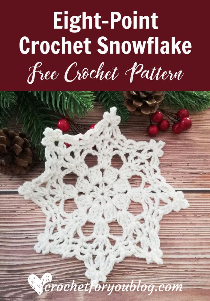 Eight-Point Crochet Snowflake