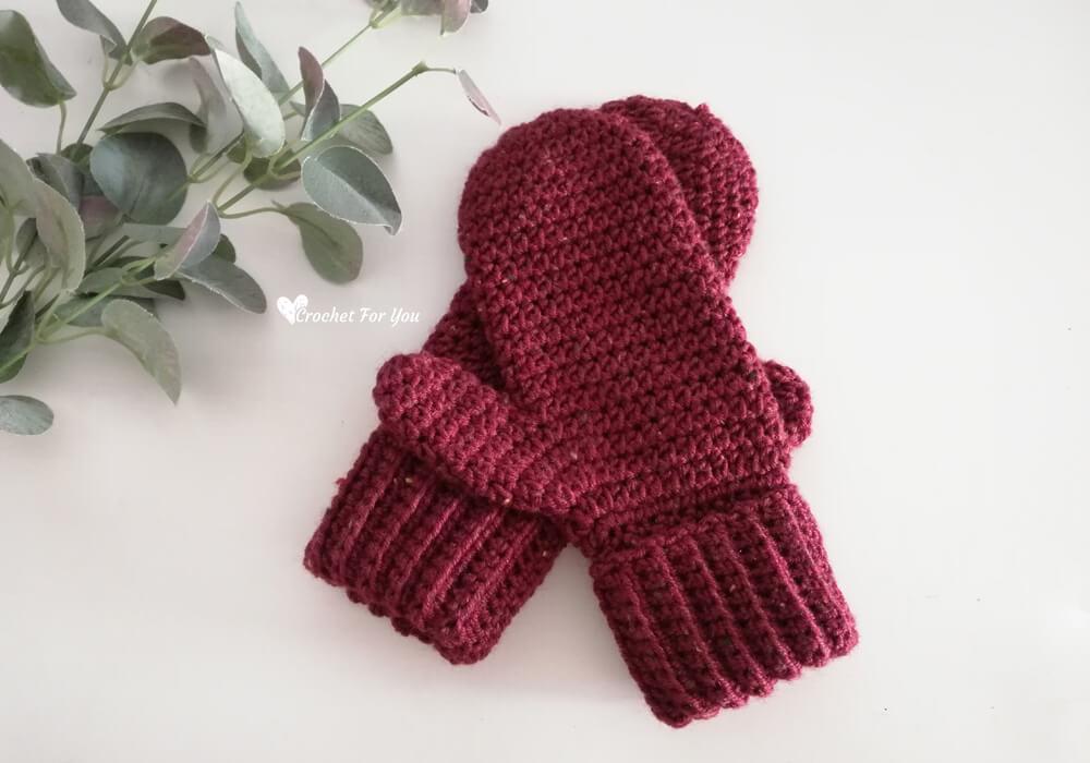 Crochet Basic Mittens Pattern