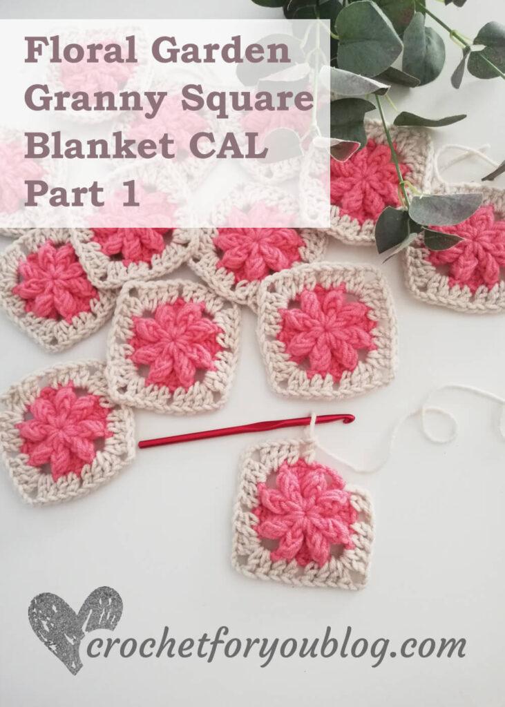 Cobertor Quadrado Floral Garden Granny Parte 1
