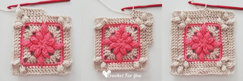 Floral Garden Granny Square Blanket Part 2