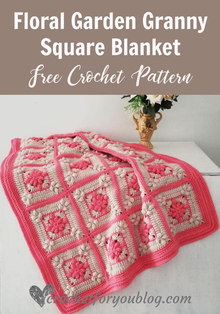 Floral Garden Granny Square Blanket