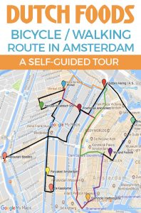 DUTCH FOODS Amsterdam Bike Tour - Take a short cycling tour of Amsterdam to sample delicious Dutch foods around the city. Let's jump on our bicycles and get started! #amsterdam #dutchfood
