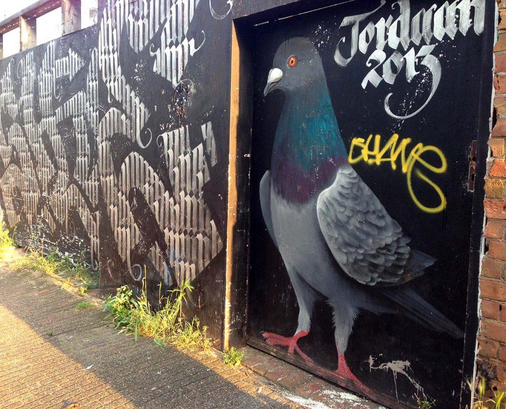 jordaan pigeon street art amsterdam