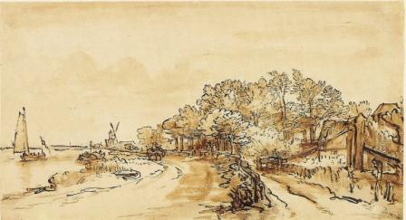 rembrandt drawing amstel