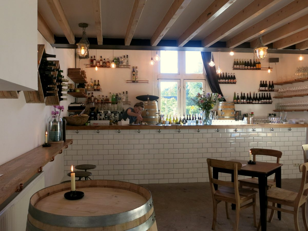 Wester Wijnfabriek has around 70 different wines in stock, including 15 served by the glass. Head to this cute bar in the park for wine in a beautiful setting.