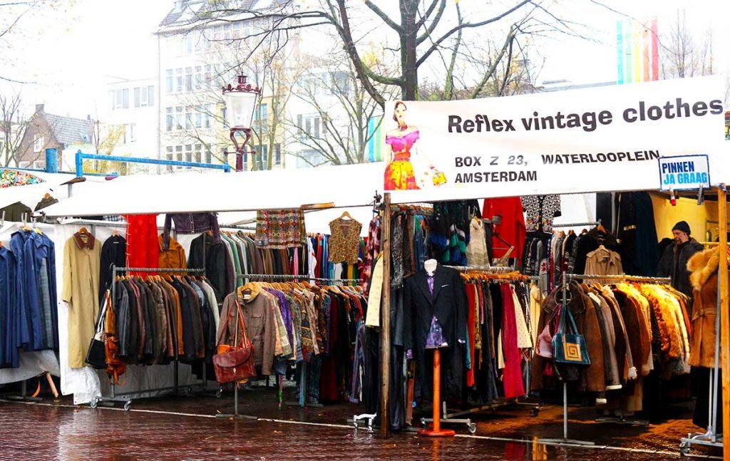 BEST VINTAGE CLOTHING SHOPPING IN AMSTERDAM - Waterlooplein