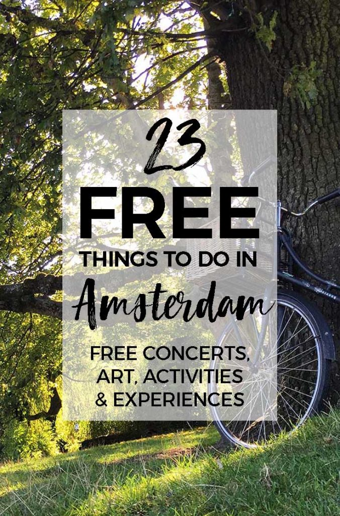 23 FREE things to do in Amsterdam