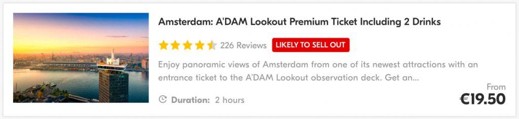 A'DAM Toren & A'DAM Lookout tickets