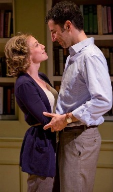 "Carrie Coon and Sean Fortunato in ""The Real Thing"" by Tom Stoppard at Writers' Theatre in Glencoe, IL."
