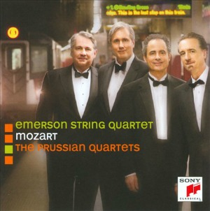 "Emerson String Quartet records Mozart's ""Prussian"" Quartets for Sony Classical"