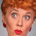 Sirena Irwin as Lucy Ricardo in I Love Lucy Live on Stage credit Ed Krieger