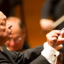 Lorin Maazel conducts Brahms' Symphony No. 2 with the Chicago Symphony Orchestra in Beijing on 2013 Asia tour - credit Todd Rosenberg
