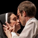 "9Isabella (Alejandra Escalante) is offered a carnal bargain by Angelo (Jay Whittaker) in ""Measure for Measure"" at Goodman Theatre 2013 credit Liz Lauren"