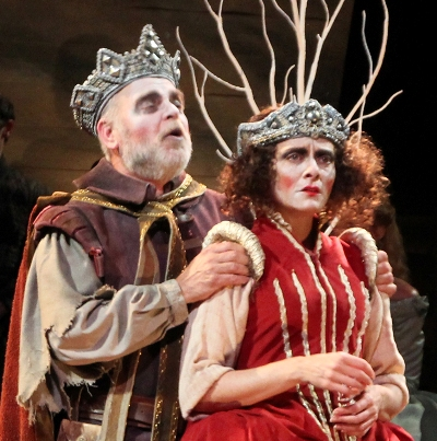 James Pickering as Player King and Tracy Michelle Arnold as Player Queen in 'Hamlet' at American Players Theatre 2013 (Carissa Dixon)